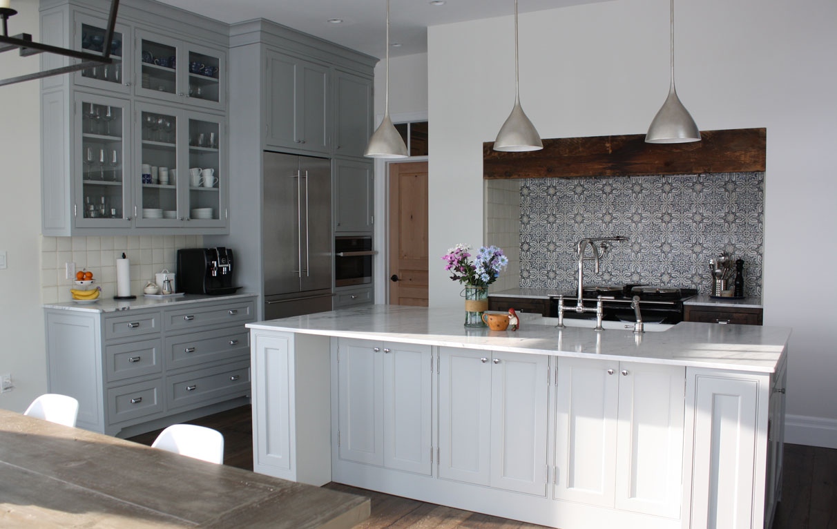 gray beaded inset cabinets