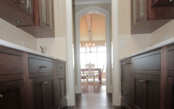 custom butlers pantry in french country style home