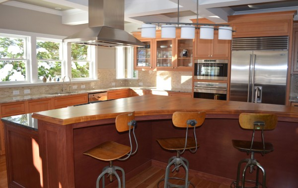curved cabinets kitchen island 1