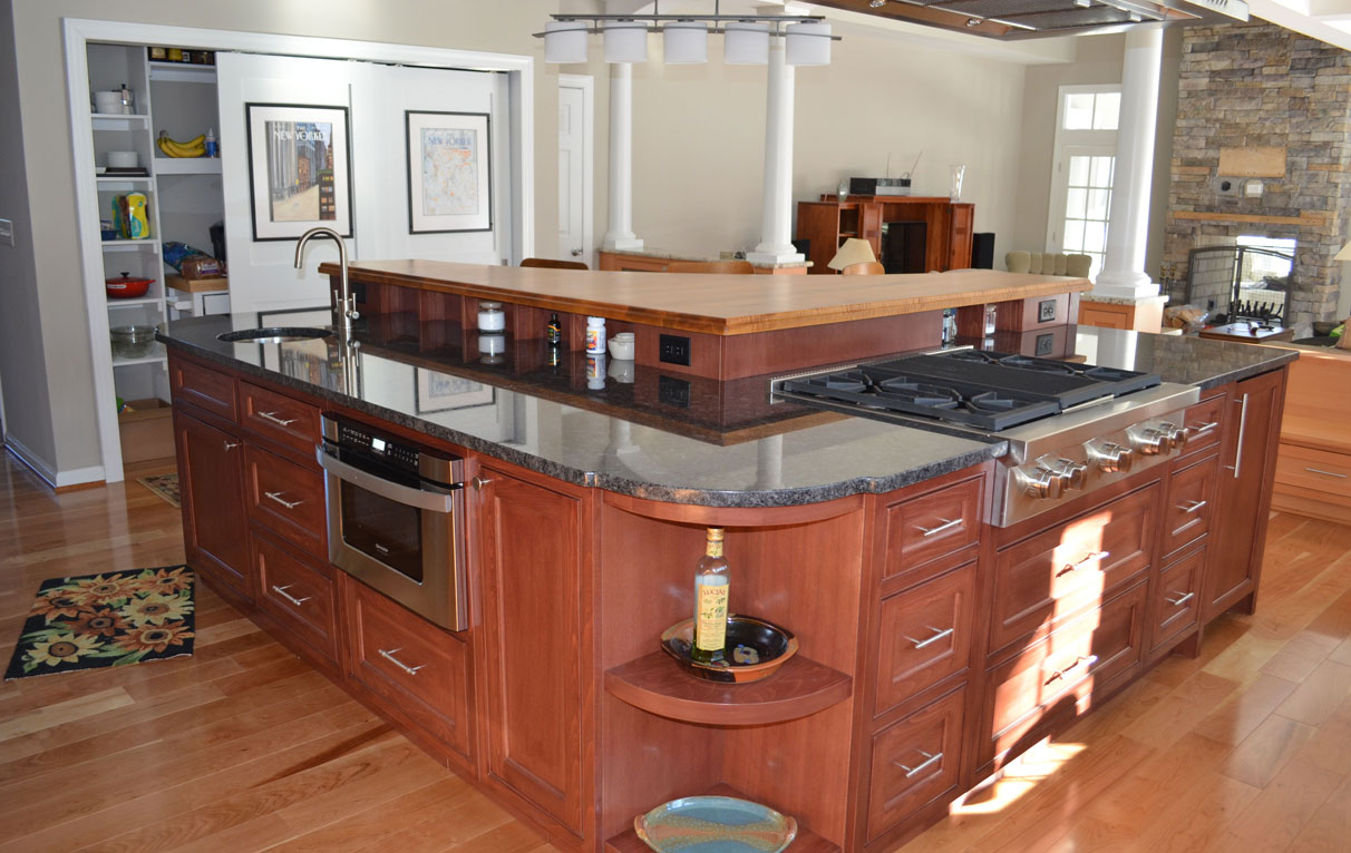 Curved Cabinets For Curved Kitchen Island In Maine By Wesley Ellen