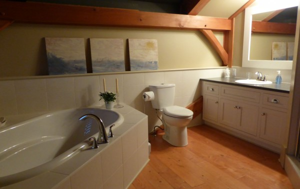timber frame home bathroom cabinets