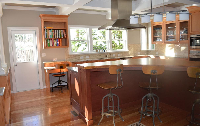 kitchen office vertical grain douglas fir