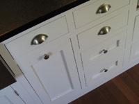 shaker style cabinets painted white
