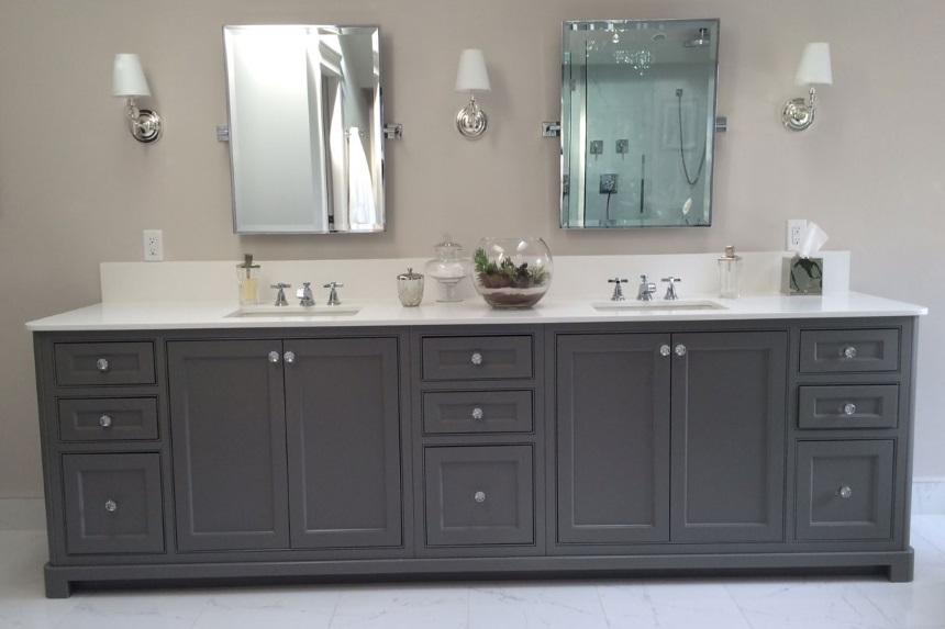 beaded inset cabinets - vanity