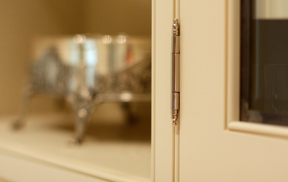 luxury kitchen design exposed barrel hinges