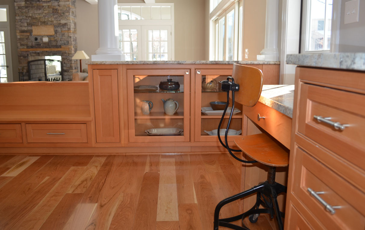 beaded-inset-cabinets in douglas fir