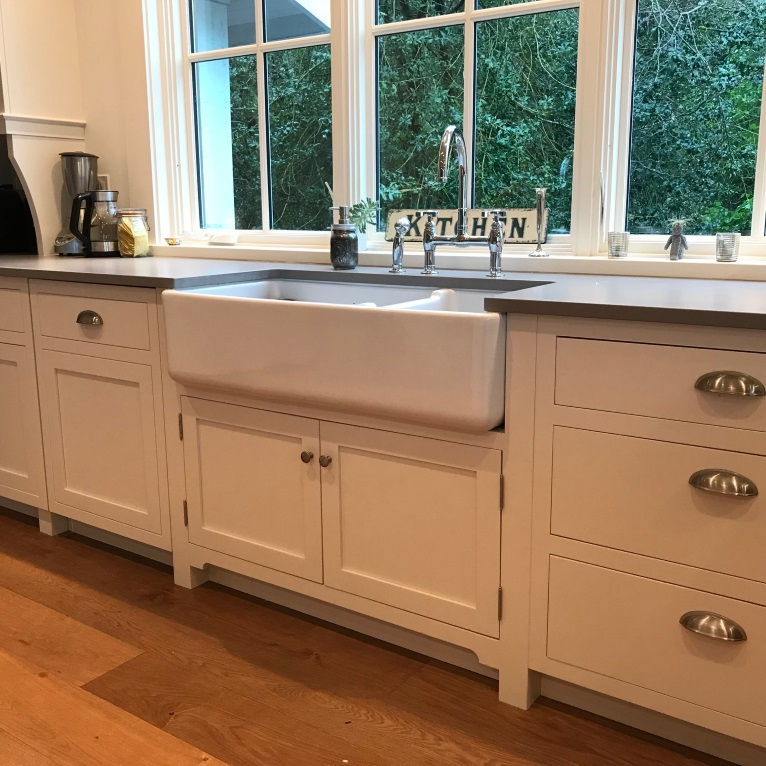 apron front sink in timeless kitchen